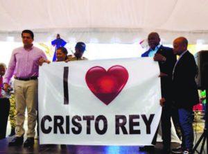 David Collado, alcalde del Distrito Nacional (DN), entrega obras en el sector de Cristo Rey, levantadas en lo que lleva de gestión