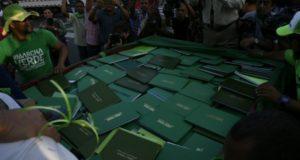 Los documentos fueron recibidos en el Placio Nacional por el consultor Jurídico del Poder Ejecutivo, Flavio Darío Espinal