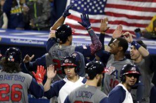 X norteamericanos vencieronX conjunto quisqueyanoX eliminadaX beisbol mundialX Perdieron